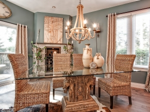 sunken-dining-room-stone-mantle-executive-luxury-townhome-one-marilyn-13